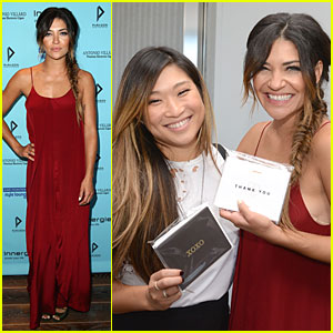 Gossip Girl's Jessica Szohr & Glee's Jenna Ushkowitz Meet Up at Kari Feinstein's Style Lounge