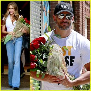 Joe Manganiello Brings Sofia Vergara a Bouquet of Flowers!