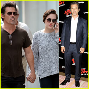 Josh Brolin Holds Hands with Daughter Eden in the Big Apple