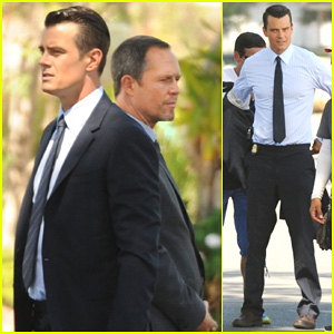 Josh Duhamel Gets Soaked for the ALS Ice Bucket Challenge on 'Battle Creek' Set - Watch Here!