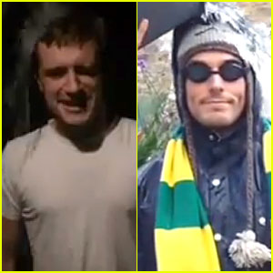 Hunger Games' Josh Hutcherson & Sam Claflin's Ice Bucket Challenges Keep Us Entertained - Watch Now!