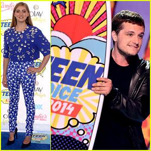 Josh Hutcherson Wins for 'Hunger Games' at Teen Choice Awards 2014