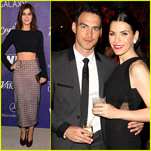 Julianna Margulies & Lizzy Caplan Party Before Emmys Night