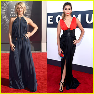 Nina Dobrev Wows In Black & Red at MTV VMAs 2014