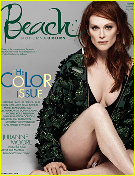 Julianne Moore Shows Lots of Leg & Cleavage for 'Beach' Magazine
