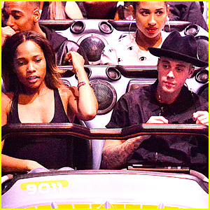 Justin Bieber & Mystery Girl Ride Space Mountain at Disneyland