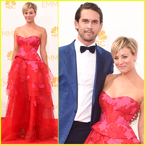 Kaley Cuoco & Husband Ryan Sweeting Are a Cute Couple at Emmys 2014