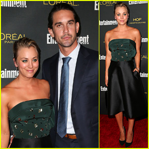 Kaley Cuoco & Ryan Sweeting Couple Up for EW's Emmys Party