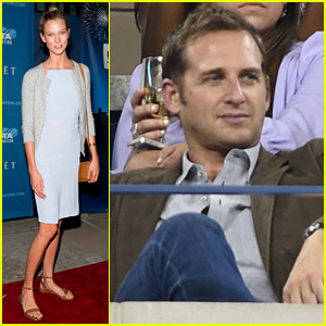 Karlie Kloss & Josh Lucas Take in Some Tennis at U.S. Open