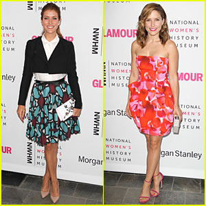 Kate Walsh & Sophia Bush Add Pops of Color to Pre-Emmys Brunch