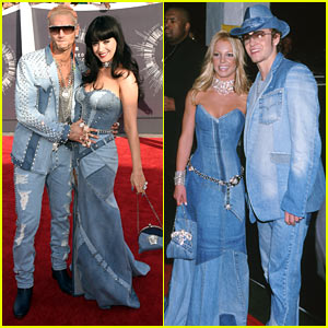 Katy Perry Pays Tribute to Britney Spears' Jean Dress at VMAs 2014