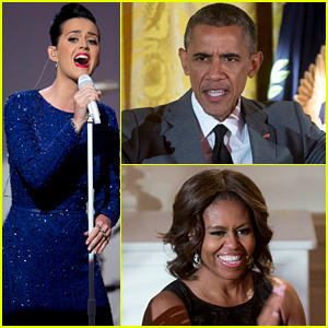 Katy Perry Sang for the President & First Lady Last Night at the White House!