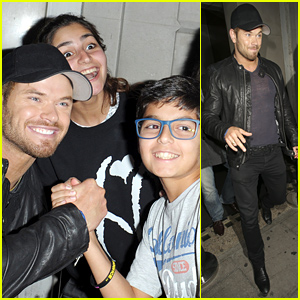 Kellan Lutz Takes Time to Pose with Fans in London
