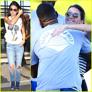 Kendall Jenner Hugs Rapper The Game At Charity Football Game