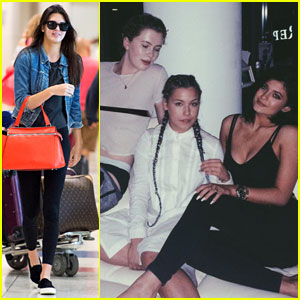 Kendall Jenner Jets to NYC While Kylie Hangs with Ireland Baldwin!
