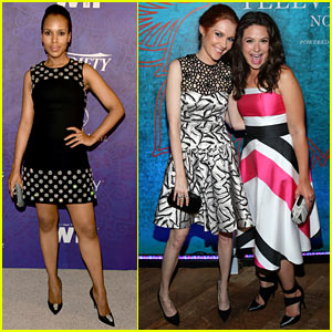 Kerry Washington & 'Scandal' Stars Hit Up Pre-Emmys Parties!