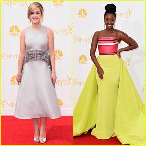 Kiernan Shipka & Teyonah Parris Look Mad Stylish at Emmys 2014!