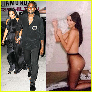 Kim Kardashian Gets Nearly Naked For Riccardo Tisci's Birthday