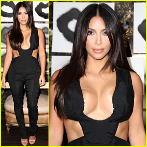 Kim Kardashian Rocks Super Sexy & Revealing Outfit at 'Violet Grey' Event!