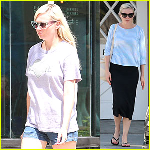 Kirsten Dunst Pampers Herself By Getting Her Nails Done & Shopping!