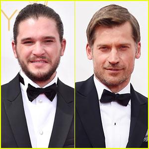 Kit Harington & Nikolaj Coster-Waldau Take Their 'Thrones' on Emmys 2014 Red Carpet