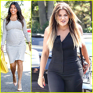Kourtney & Khloe Kardashian Bring Fashion Sense to Dash
