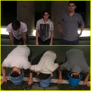 Kristen Stewart & Nicholas Hoult Complete ALS Ice Bucket Challenge with 'Dirty Bath Water' - Watch Now!