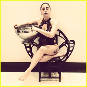 Lady Gaga Accepts Just Jared's Ice Bucket Challenge - Watch Video Now!