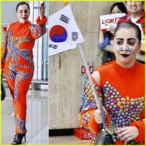 Lady Gaga Arrives in South Korea Wearing Very Interesting Outfit