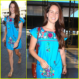 Lana Del Rey's Bright Blue Dress Puts a Big Smile on Her Face!