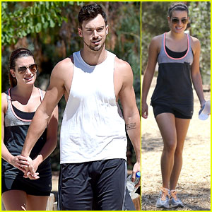 Lea Michele Keeps Both Hands on Matthew Paetz During a Hike