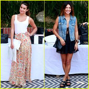 Lea Michele & Jessica Szohr Are the Ladies Who Brunch