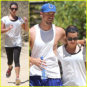Lea Michele & Boyfriend Matthew Paetz Sweat It Out During Hike