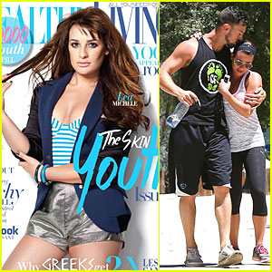 Lea Michele Gets Sweet Kiss From Boyfriend Matthew Paetz During Hike