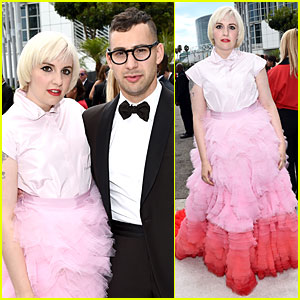 Lena Dunham & Boyfriend Jack Antonoff Are Picture Perfect on Emmys 2014 Red Carpet