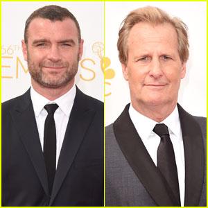 Liev Schreiber & Jeff Daniels Are Leading Men at Emmys 2014!