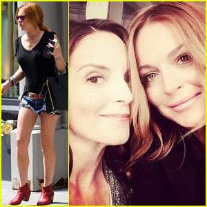 Lindsay Lohan & Tina Fey Have a 'Mean Girls' Reunion for Entertainment Weekly!