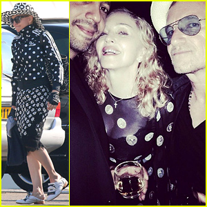 Madonna Kicks Off Her 56th Birthday Celebration with Bono, Her Family & More!