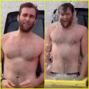 Matthew Lewis - AKA Neville Longbottom - Does the Ice Bucket Challenge Totally Shirtless - Watch Now!