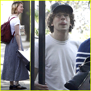 Mia Wasikowska & Jesse Eisenberg Spotted Together For the First Time in Months