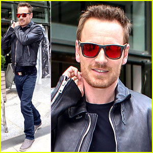 Michael Fassbender Rocks Out with 'Frank' Mask On for Colbert!