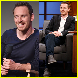 Michael Fassbender Talks Being Part of a 2-Man Metal Band for 'Frank' on 'Late Night with Seth Meyers'!