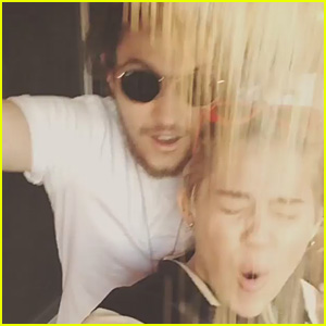 Miley Cyrus & Brother Braison Complete What They Call the 'Rice Bucket Challenge' - Watch Now!