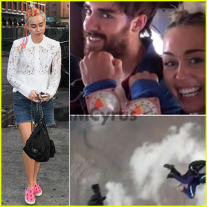 Miley Cyrus Jumps Out of a Plane with Pal Cheyne Thomas!