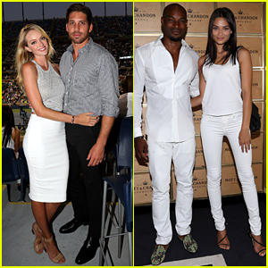 Models Lindsay Ellingson & Tyson Beckford Bring Their Significant Others to US Open!