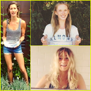 Models Gisele Bundchen, Anne V, & More Get Soaked for the ALS Ice Bucket Challenge - Watch Now!