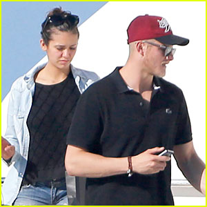 Nina Dobrev & Alexander Ludwig Hang Out On a Yacht in Ibiza!