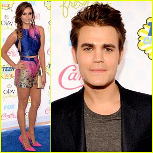 Nina Dobrev & Paul Wesley Are Our Choice Vampires at Teen Choice Awards 2014