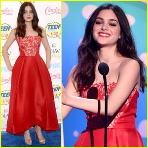 The Giver's Odeya Rush WINS Breakout Star Award at Teen Choice Awards 2014