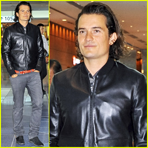 Orlando Bloom Is Leather Jacket Sexy While Leaving Tokyo